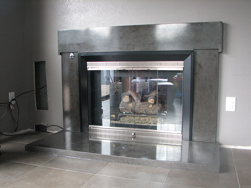 custom fireplace mantel service